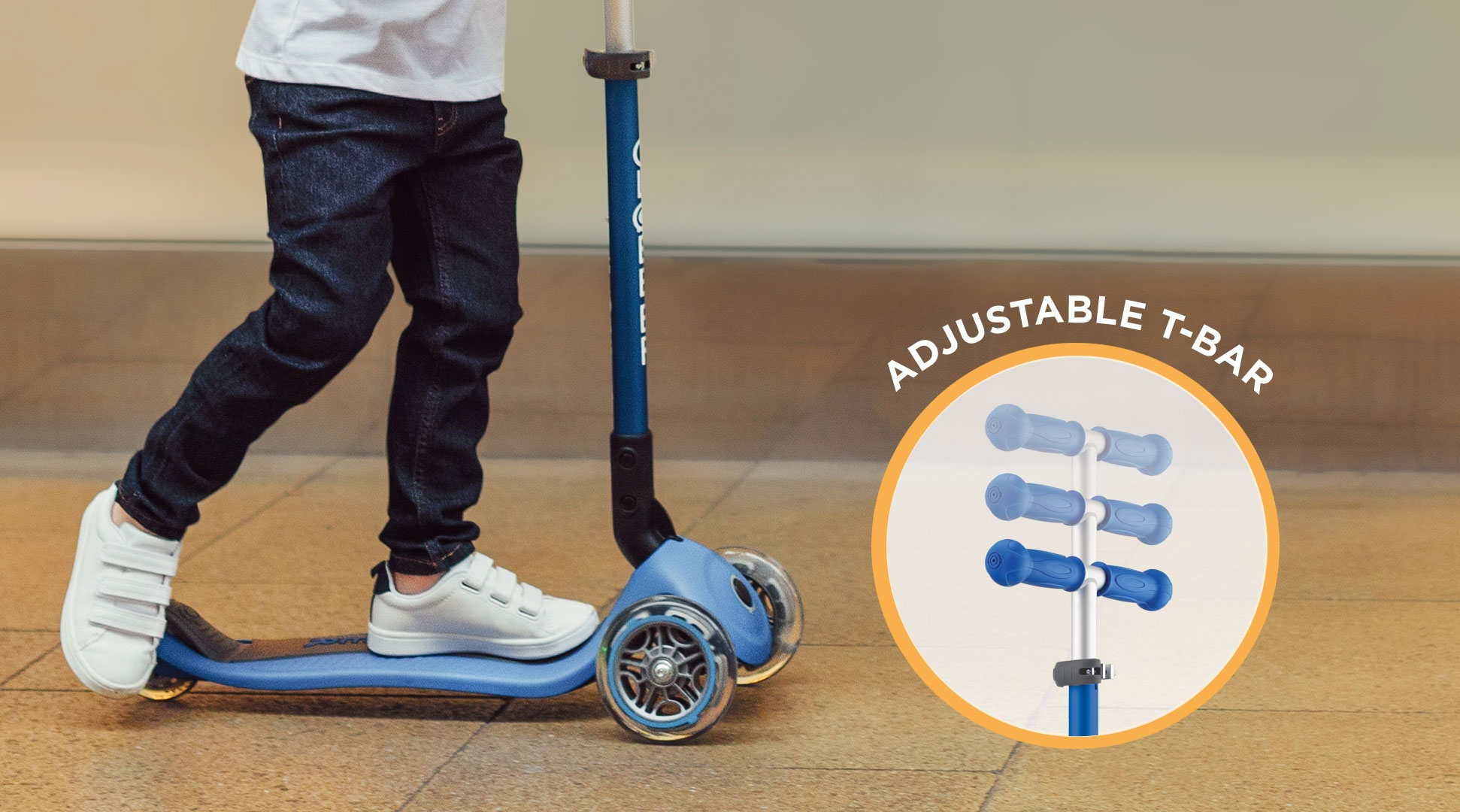 3 wheel scooter for kids aged 3 to 6+ years