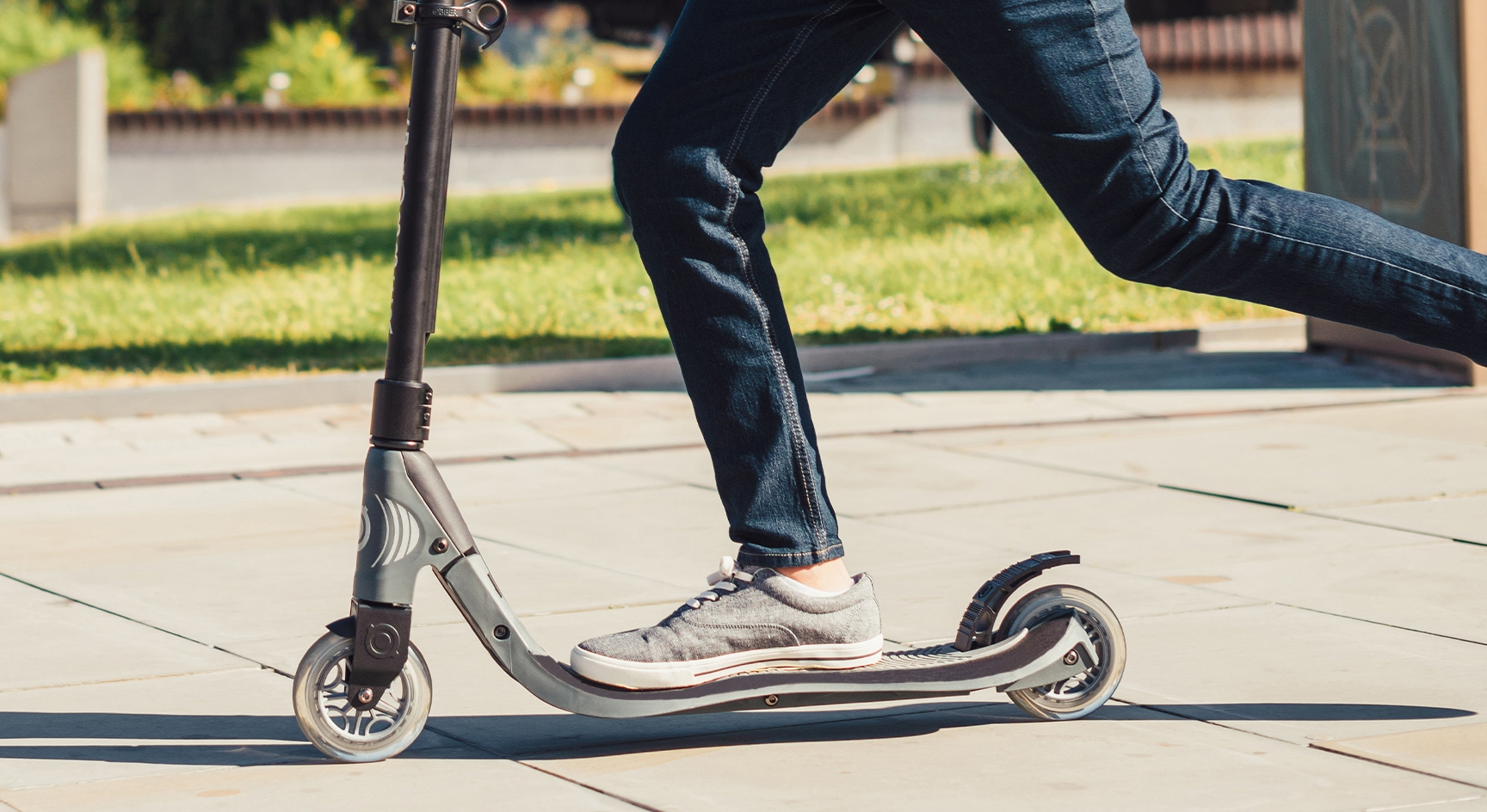 robust design – aluminium supported scooters