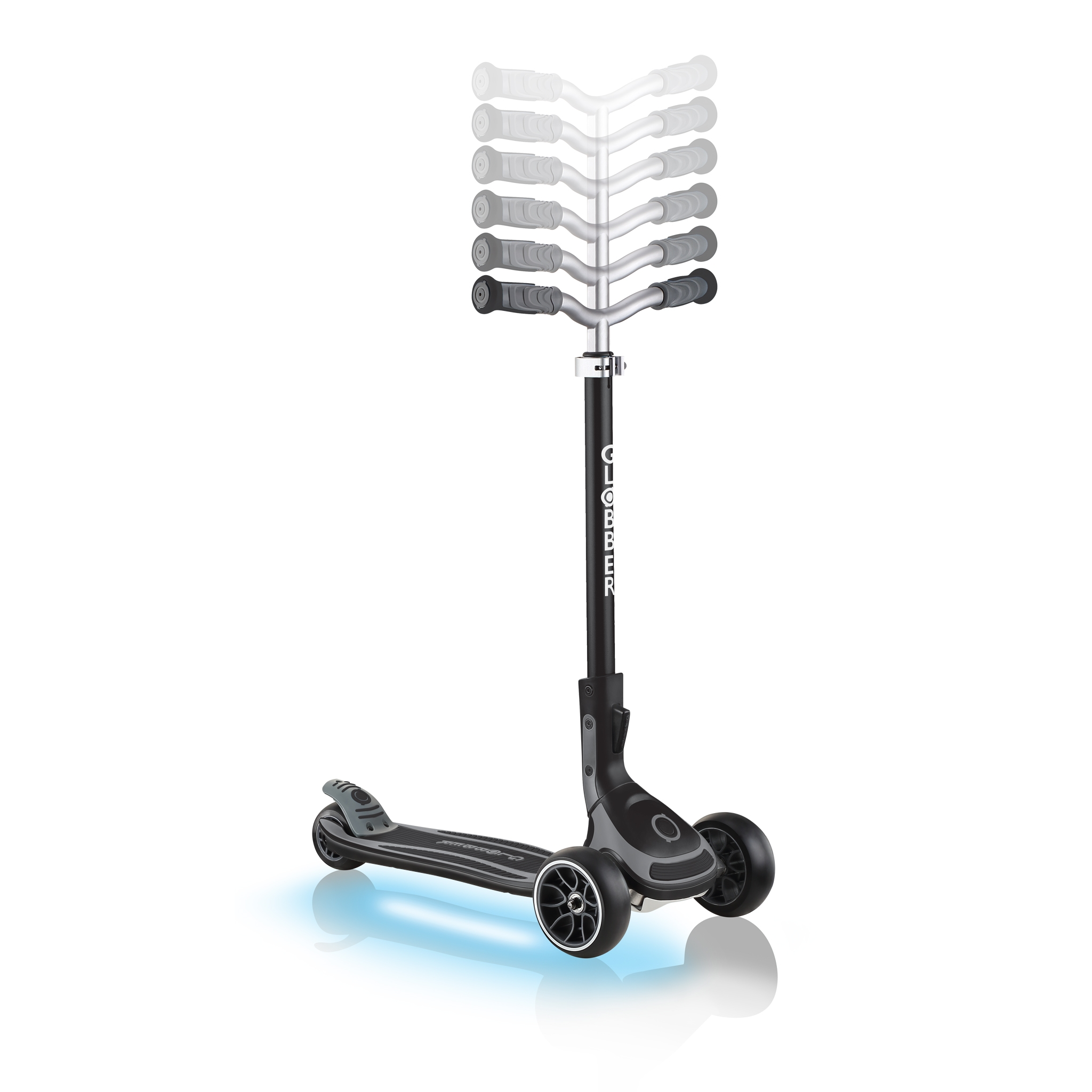 ULTIMUM-LIGHTS-adjustable-scooter-for-kids-and-teens-black 1