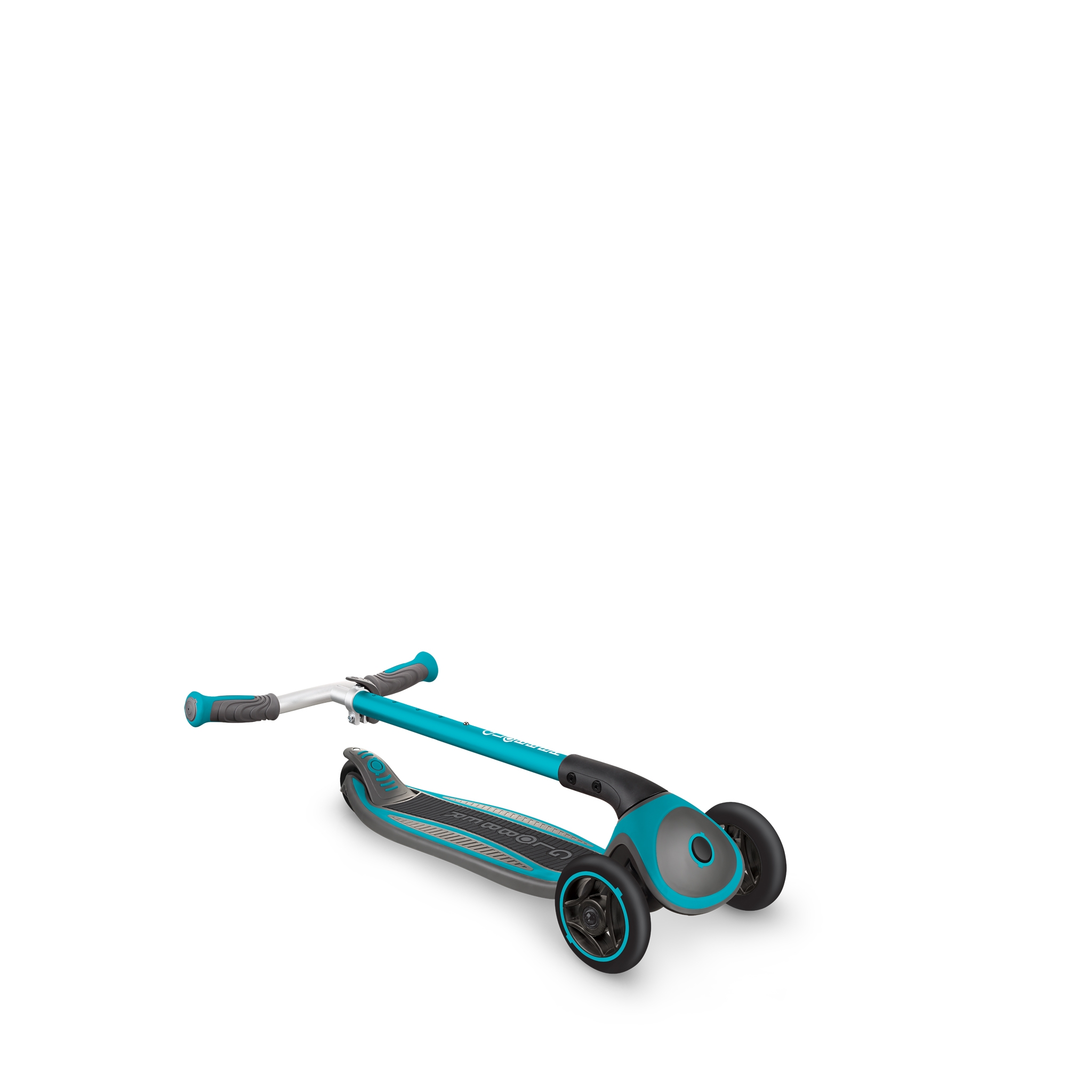 Globber-MASTER-convenient-foldable-3-wheel-scooter-for-kids-with-patented-folding-system_teal 3