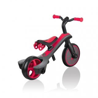 Globber-EXPLORER-TRIKE-2in1-all-in-one-training-tricycle-and-kids-balance-bike-with-smart-pedal-storage_new-red thumbnail 4