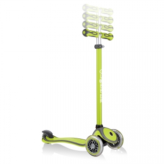 GO-UP-COMFORT-scooter-with-seat-4-height-adjustable-T-bar-lime-green thumbnail 5