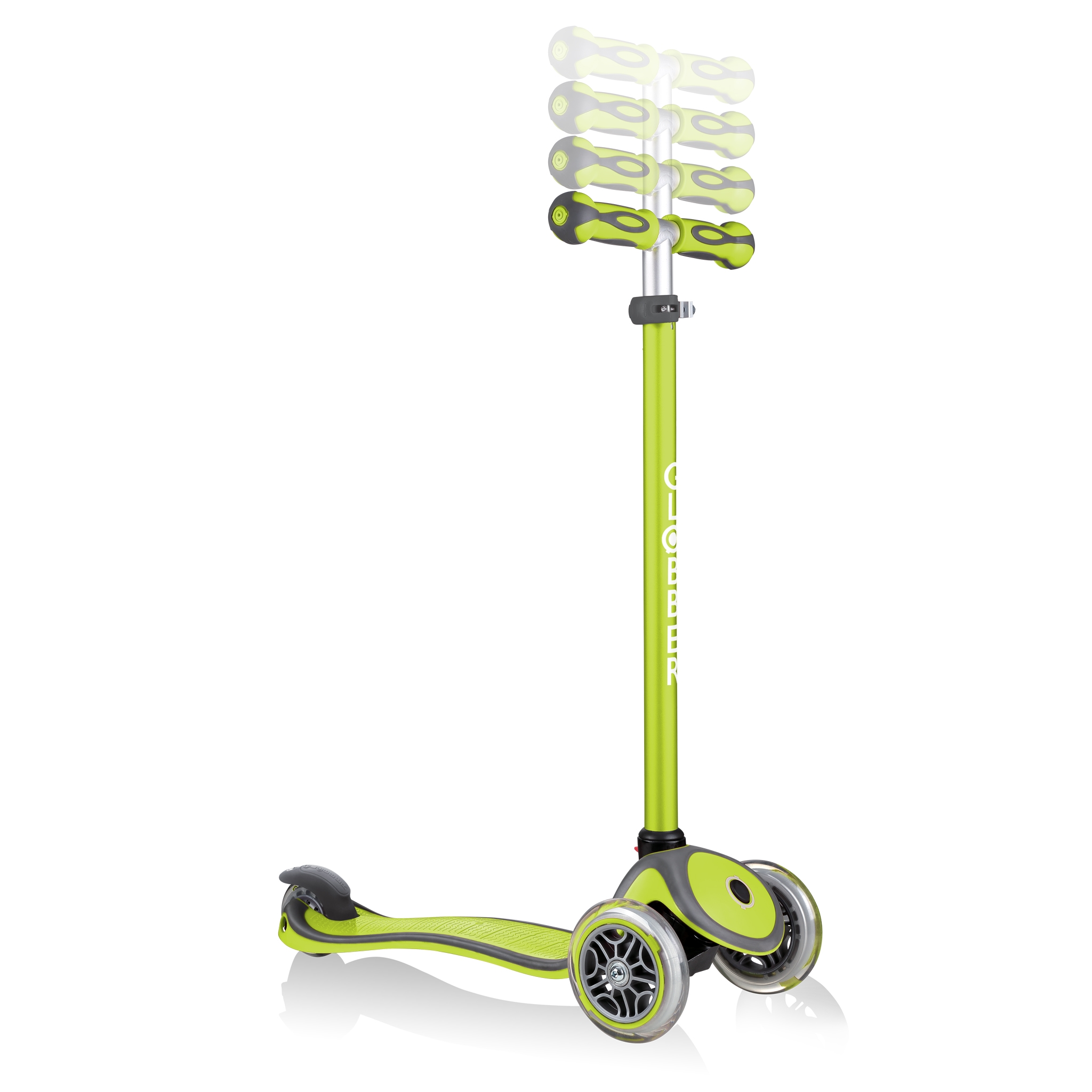 GO-UP-COMFORT-scooter-with-seat-4-height-adjustable-T-bar-lime-green 5