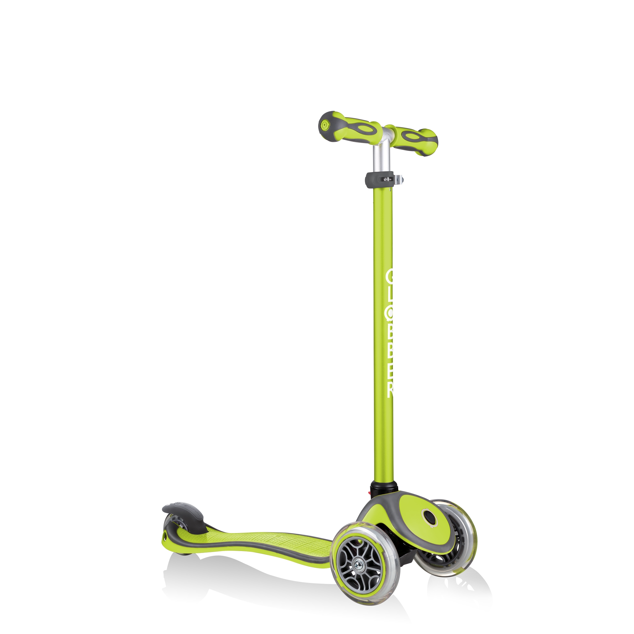 GO-UP-COMFORT-scooter-with-seat-with-adjustable-T-bar-lime-green 4