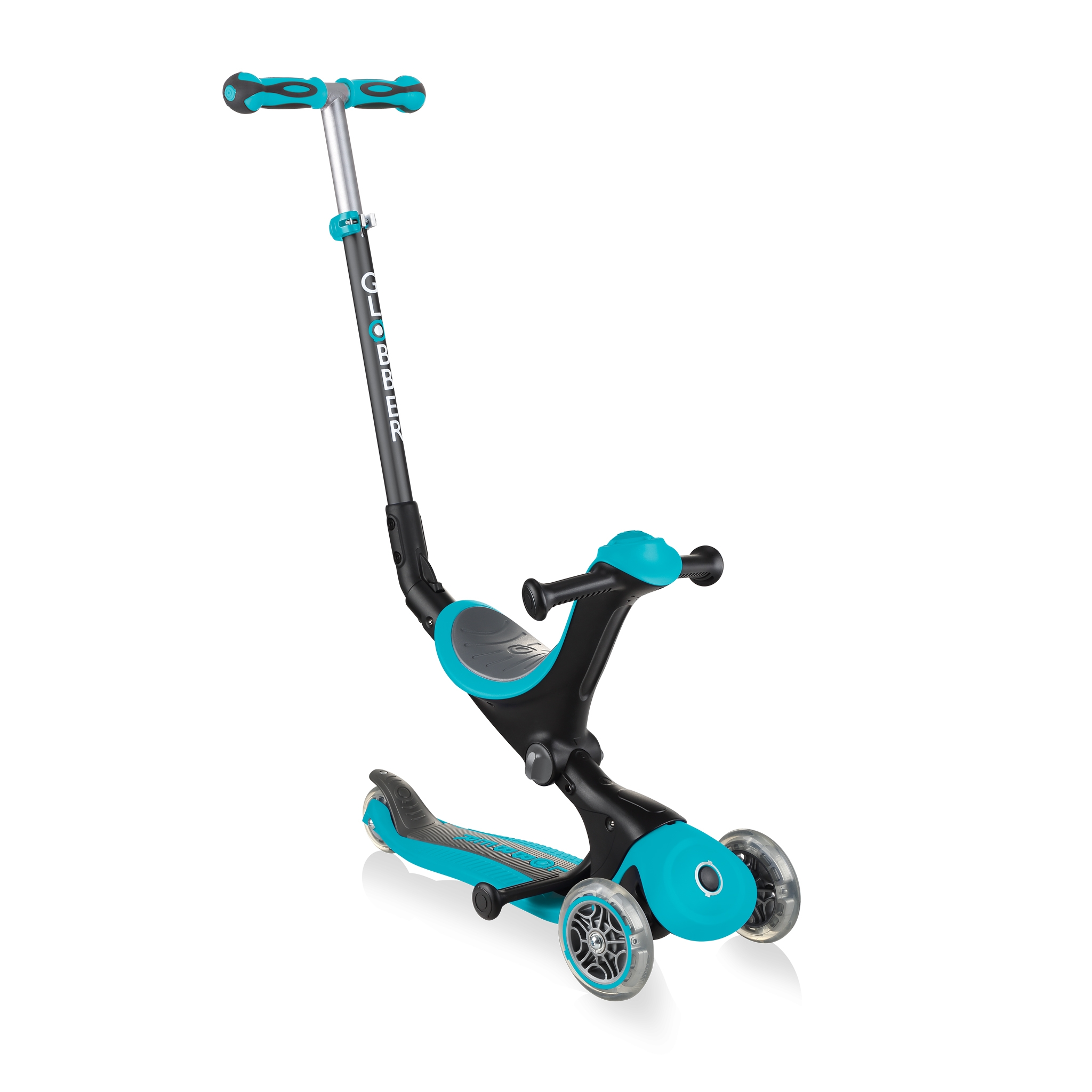 GO-UP-DELUXE-ride-on-walking-bike-scooter-teal 0