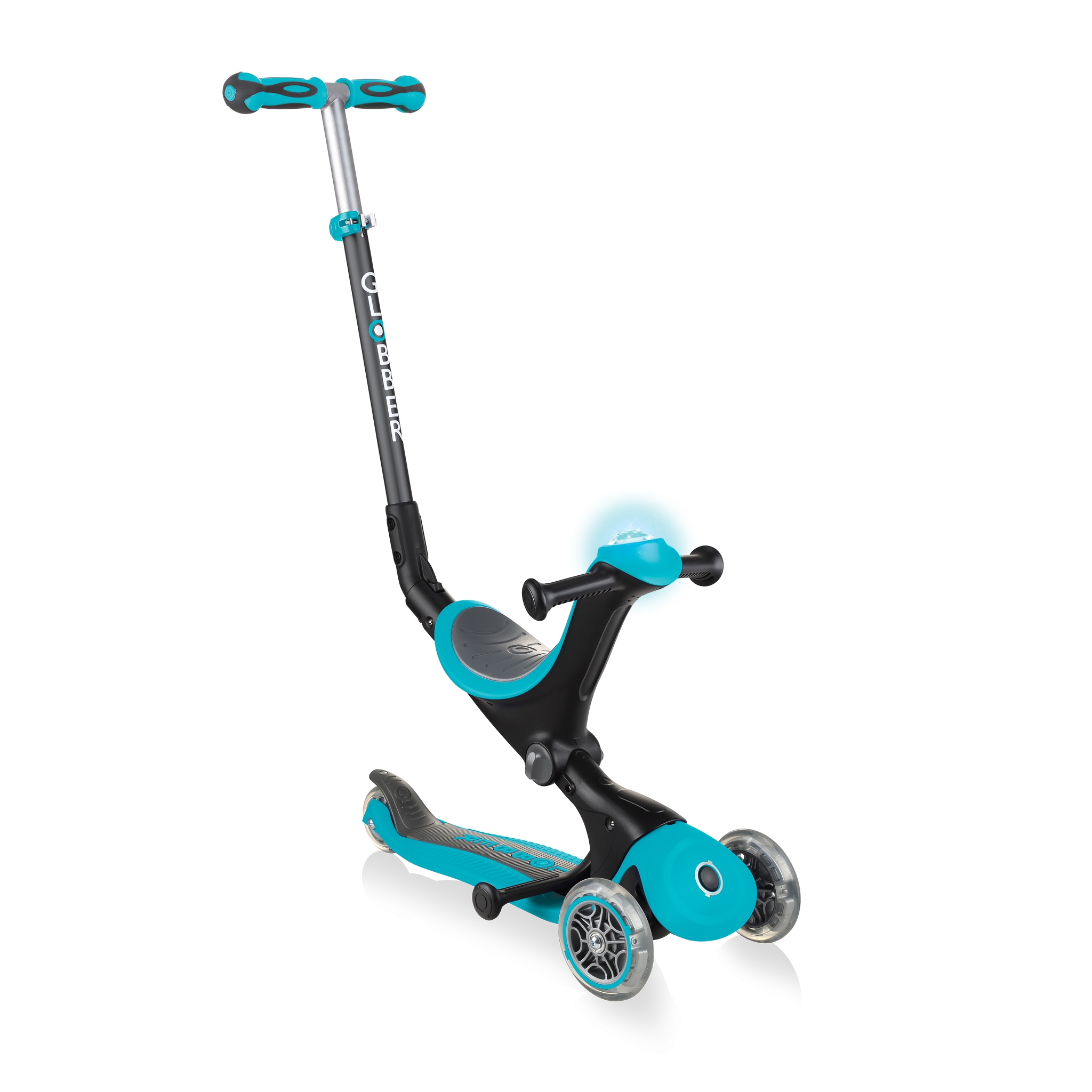 GO-UP-DELUXE-PLAY-ride-on-walking-bike-scooter-with-light-and-sound-module-teal 0
