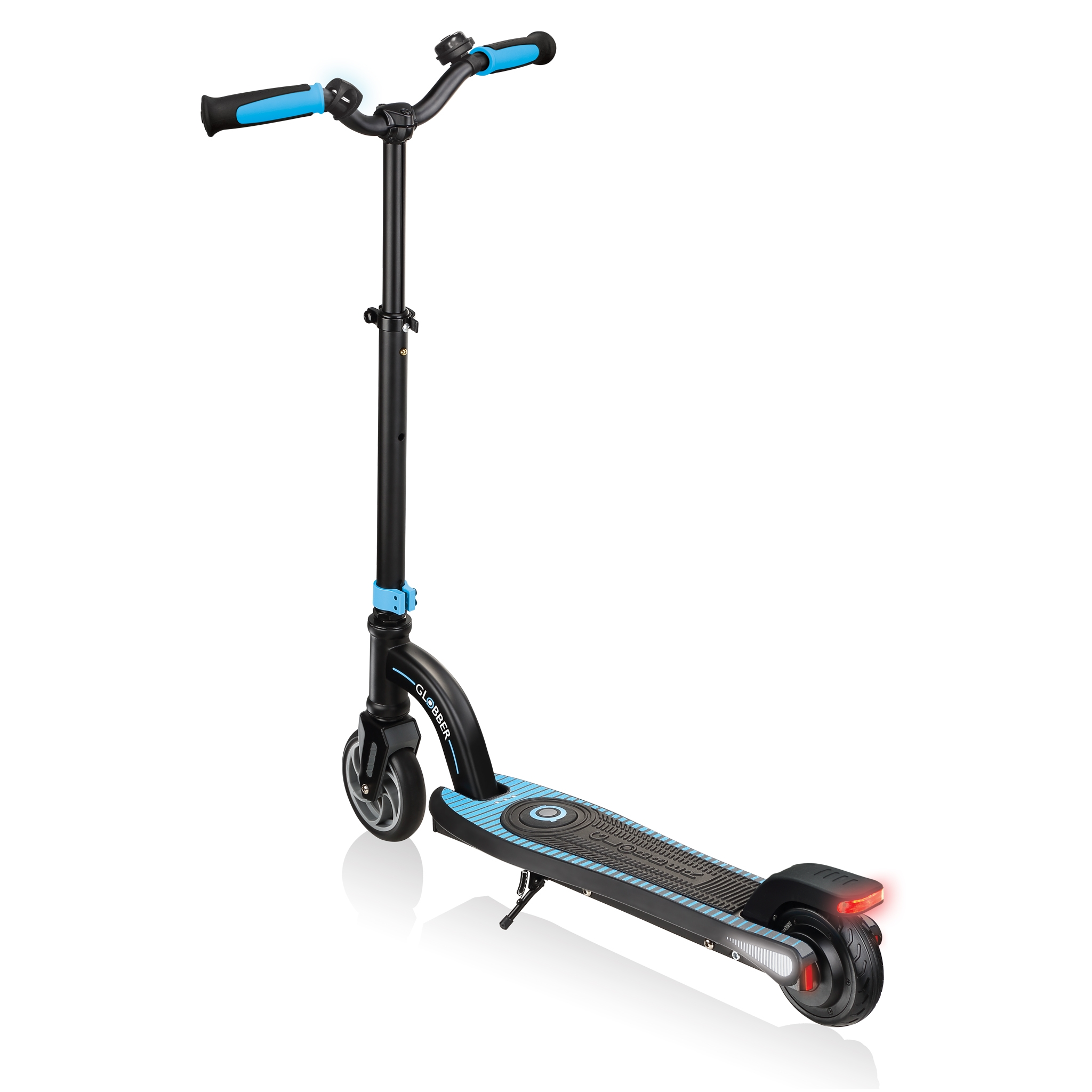 Globber-ONE-K-E-MOTION-10-safe-electric-scooter-for-kids-with-footrest-sky-blue