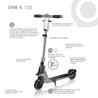 ONE-K-125-kick-and-fold-2-wheel-foldable-scooter-for-kids-and-teens-aged-8-and-above thumbnail 1
