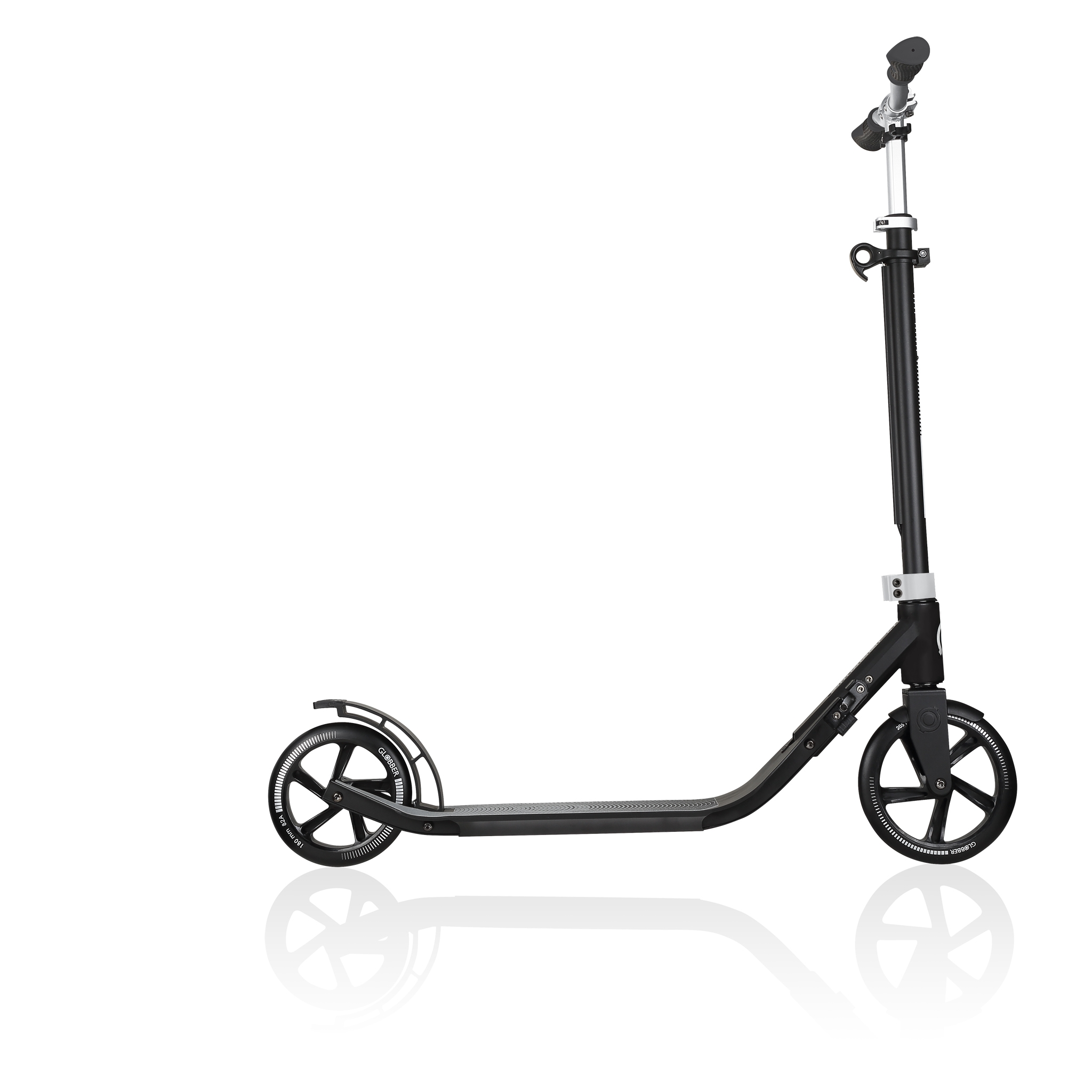 Globber-ONE-NL-205-180-DUO-2-wheel-foldable-scooter-for-adults-aluminium-deck-lead-grey 3