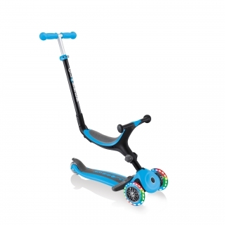 Globber-GO-UP-FOLDABLE-PLUS-LIGHTS-3-in-1-light-up-scooter-for-toddlers-ride-on-mode thumbnail 0
