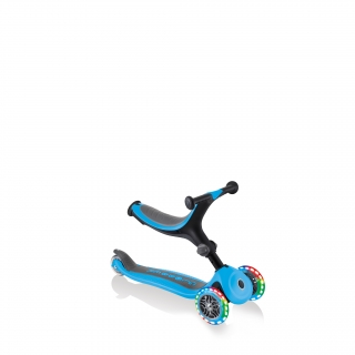 Globber-GO-UP-FOLDABLE-PLUS-LIGHTS-3-in-1-light-up-scooter-for-toddlers-walking-bike-mode thumbnail 1