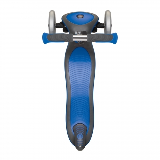 Globber-ELITE-DELUXE-3-wheel-foldable-scooter-for-kids-with-extra-wide-scooter-deck-navy-blue thumbnail 4
