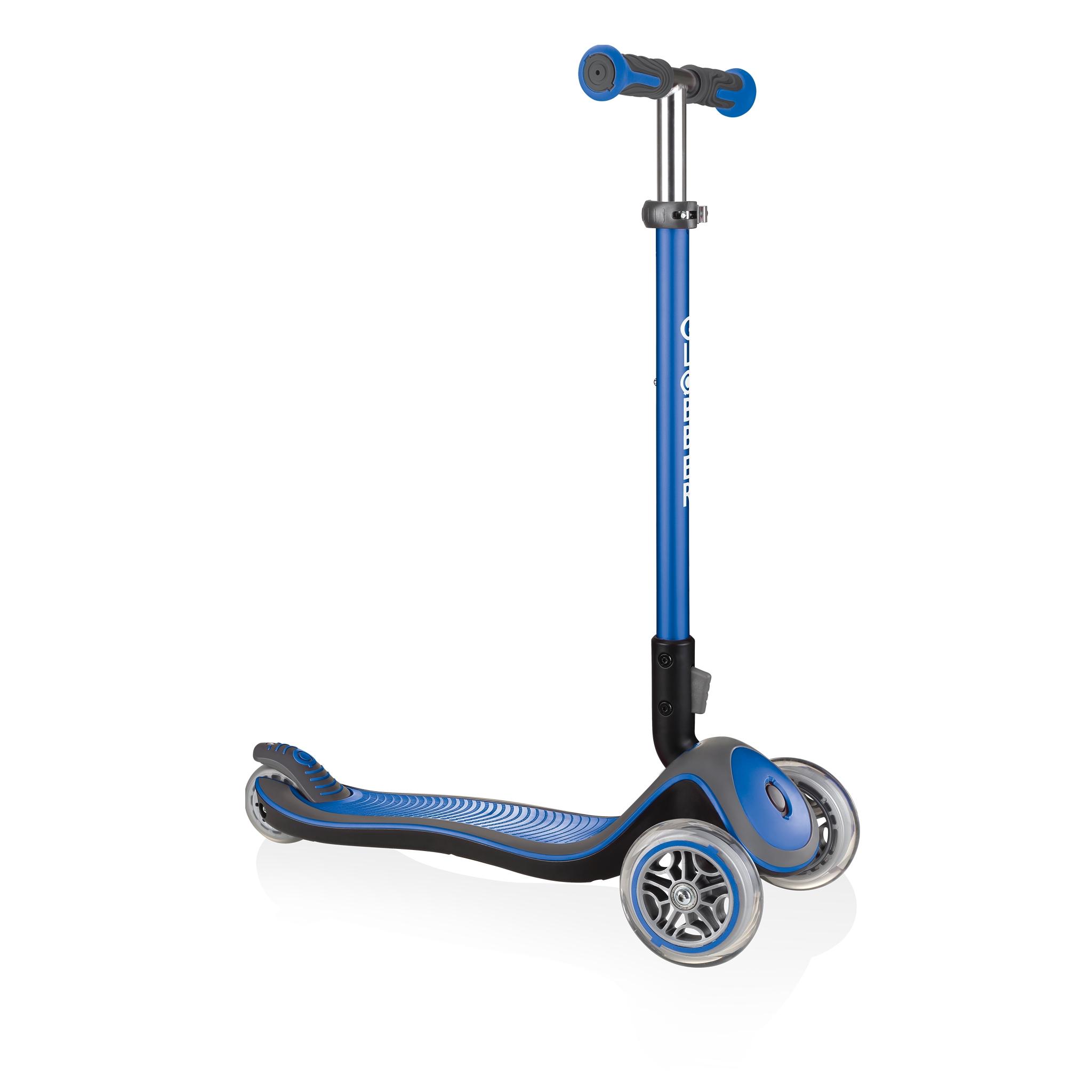 Globber-ELITE-DELUXE-Best-3-wheel-foldable-scooter-for-kids-aged-3+-navy-blue 0