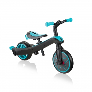 Globber-EXPLORER-TRIKE-3in1-all-in-one-baby-tricycle-and-kids-balance-bike-stage-3-balance-bike_teal thumbnail 2