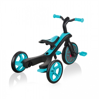 Globber-EXPLORER-TRIKE-3in1-all-in-one-baby-tricycle-and-kids-balance-bike-with-patented-wheel-mechanism-transformation_teal thumbnail 5