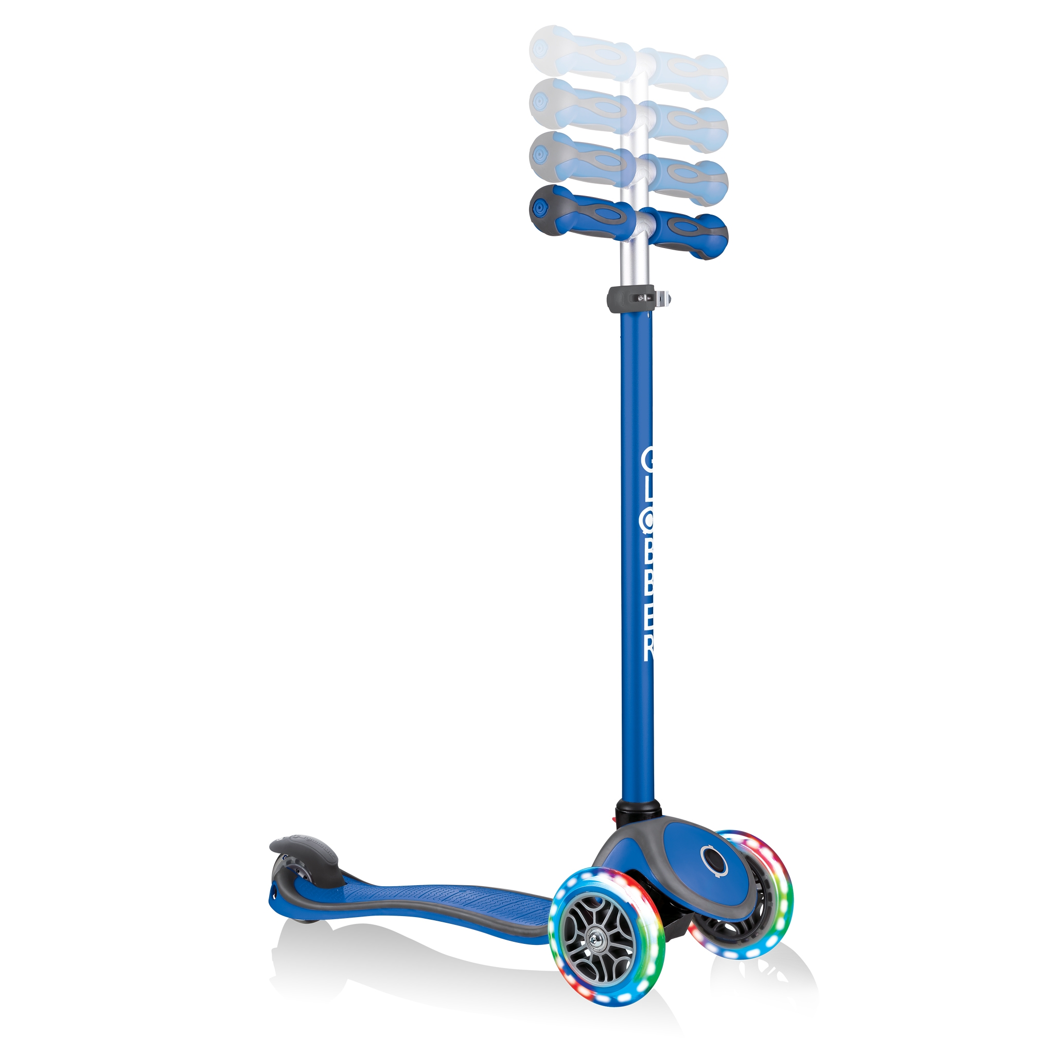 GO-UP-COMFORT-LIGHTS-scooter-with-seat-4-height-adjustable-T-bar-navy-blue 5