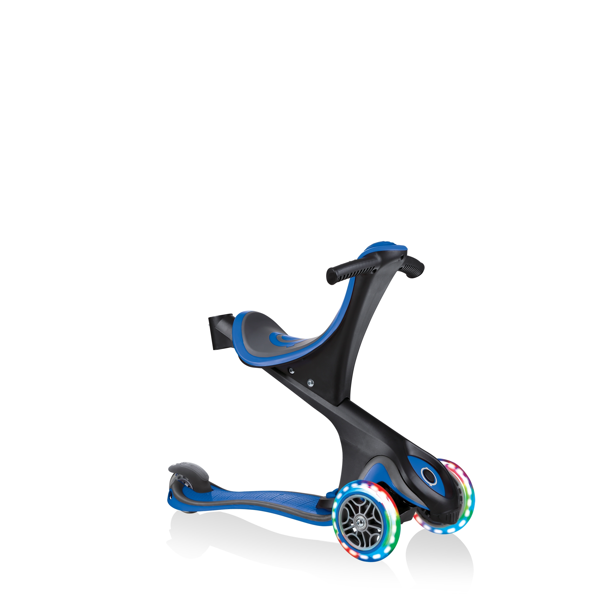 GO-UP-COMFORT-LIGHTS-scooter-with-seat-walking-bike-navy-blue 2