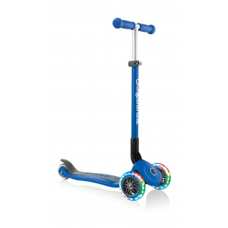 PRIMO-FOLDABLE-LIGHTS-3-wheel-foldable-scooter-light-up-scooter-for-kids-navy-blue thumbnail 4