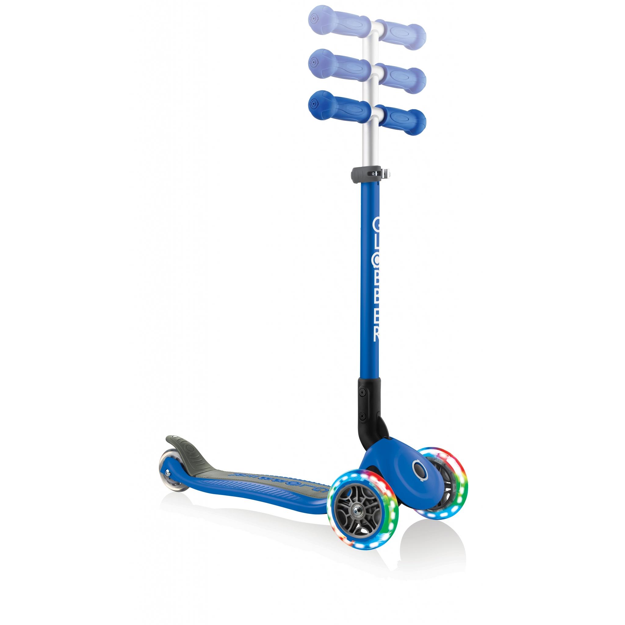 PRIMO-FOLDABLE-LIGHTS-adjustable-scooter-for-kids-navy-blue 5