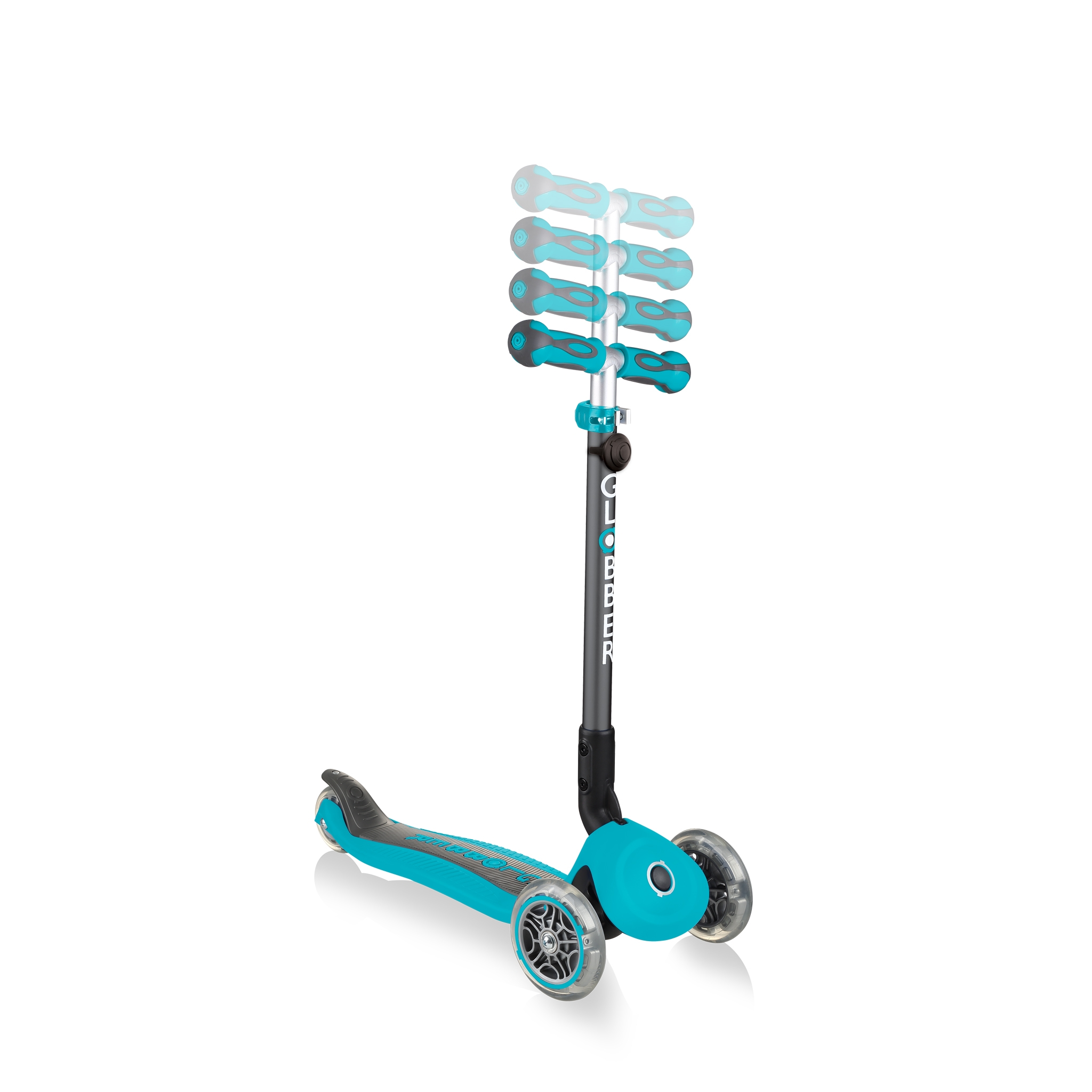 GO-UP-DELUXE-PLAY-ride-on-walking-bike-scooter-with-4-height-adjustable-T-bar-and-light-and-sound-module-teal 4