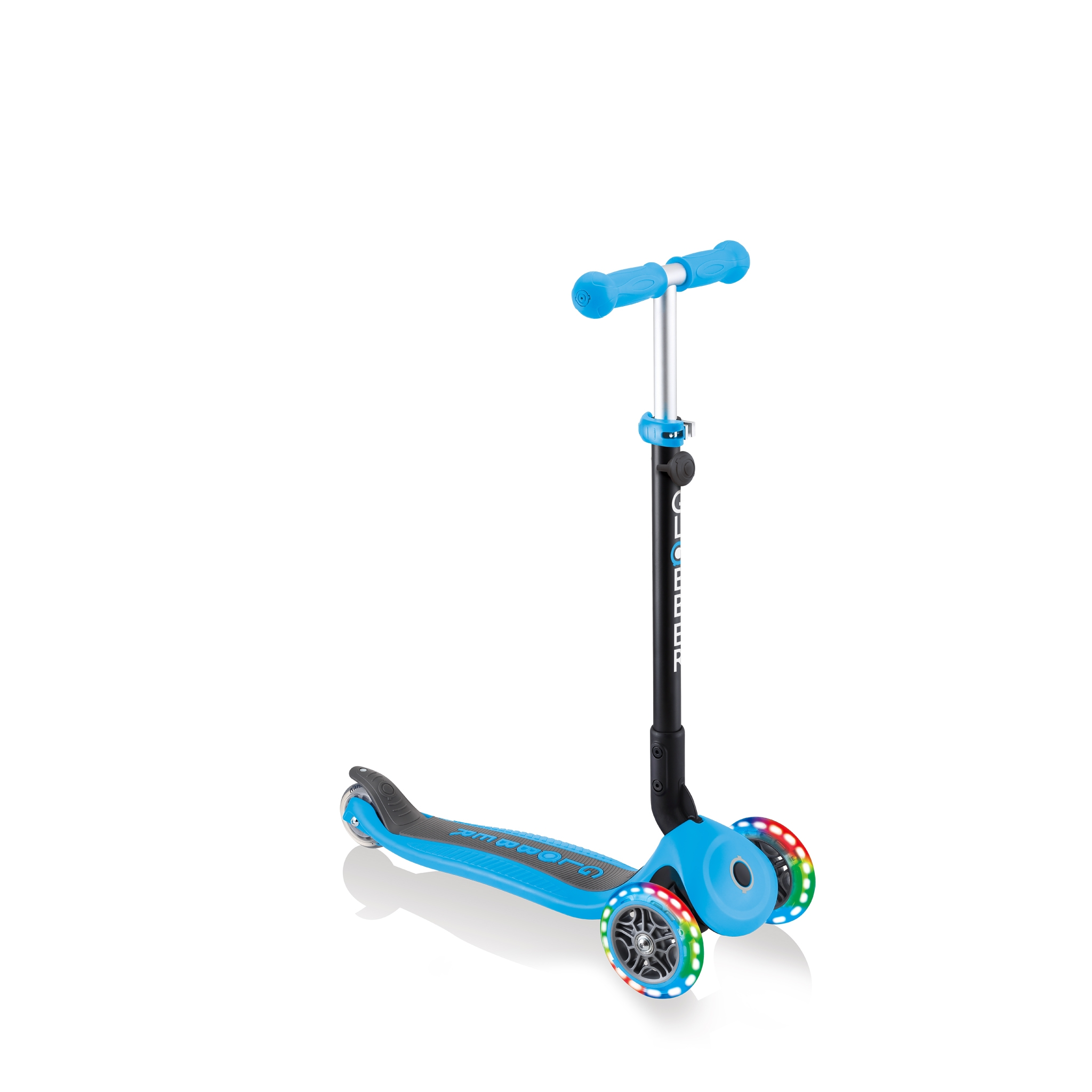 Globber-GO-UP-FOLDABLE-PLUS-LIGHTS-3-in-1-light-up-scooter-for-toddlers-scooter-mode 2
