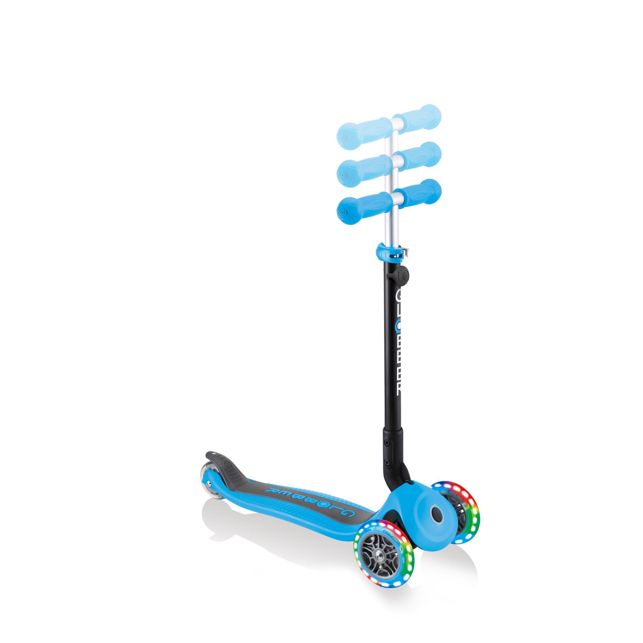 Globber-GO-UP-FOLDABLE-PLUS-LIGHTS-adjustable-light-up-scooter-for-toddlers 4