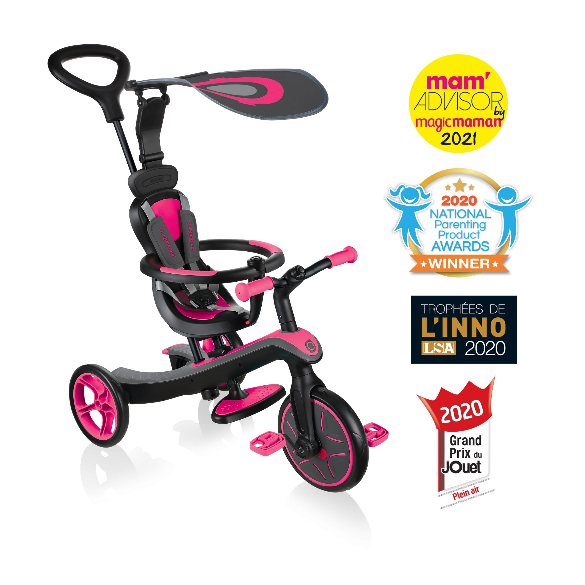 Globber-EXPLORER-TRIKE-4in1-all-in-one-baby-tricycle-and-kids-balance-bike-stage1-infant-trike 0