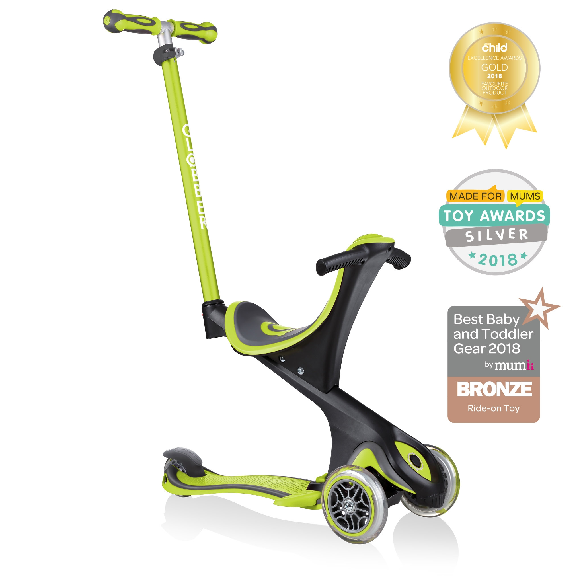 GO-UP-COMFORT-scooter-with-seat-with-extra-wide-seat-lime-green 0