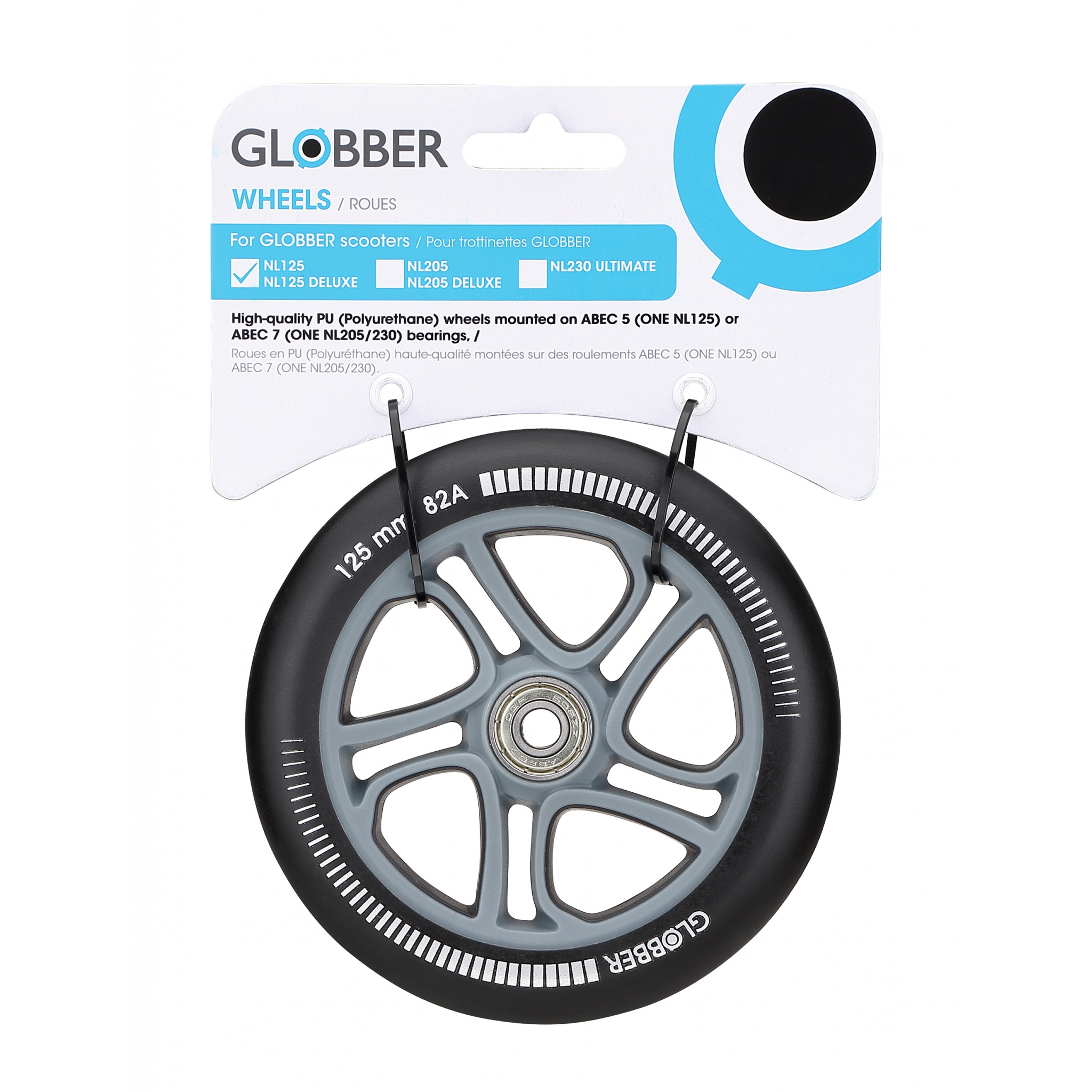 125mm wheel spare part for Globber ONE NL 125 scooter 0