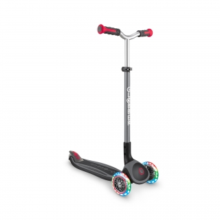 Globber-MASTER-LIGHTS-premium-3-wheel-foldable-light-up-scooter-for-kids-aged-4-to-14_black-red thumbnail 4