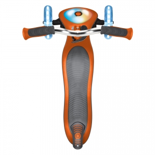 Globber-ELITE-PRIME-best-3-wheel-foldable-scooter-for-kids-with-light-up-scooter-deck-copper