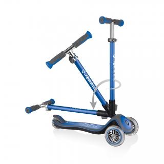 Globber-ELITE-DELUXE-3-wheel-fold-up-scooter-for-kids-navy-blue thumbnail 2