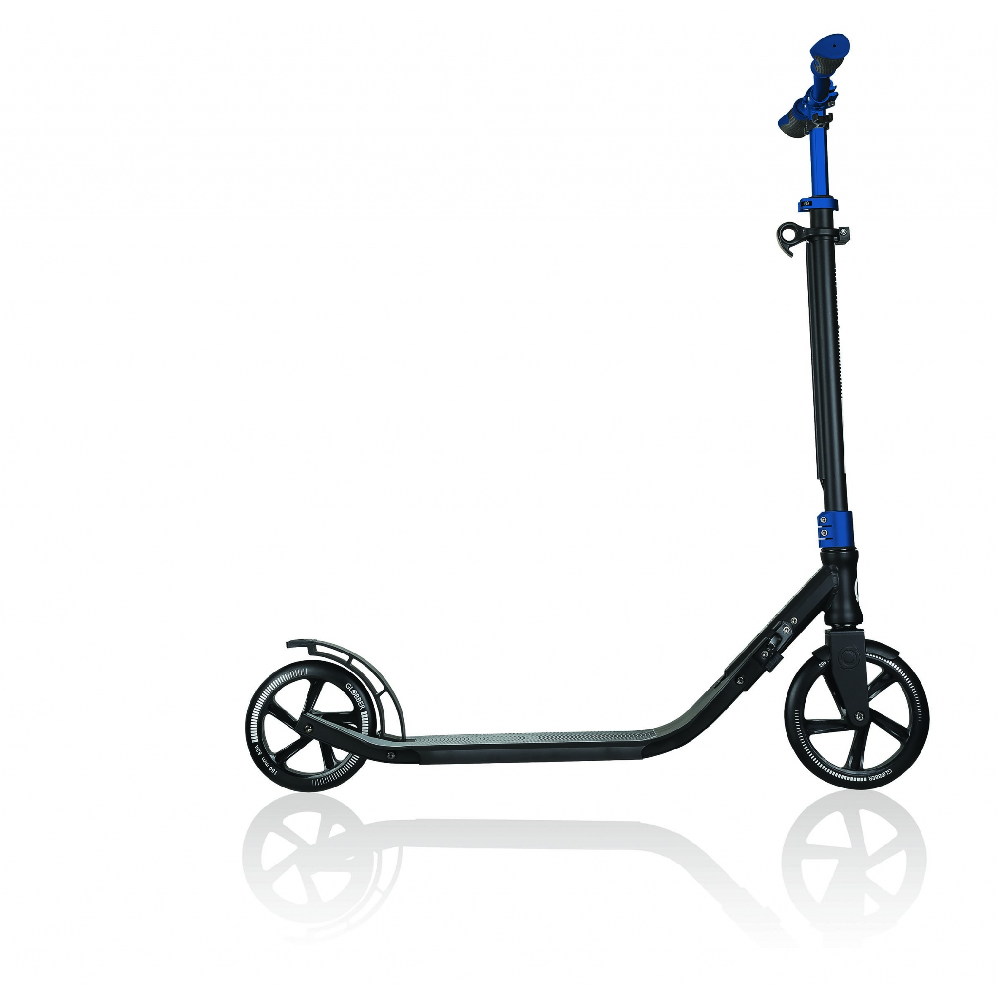 Globber-ONE-NL-205-180-DUO-2-wheel-foldable-scooter-for-adults-aluminium-deck-cobalt-blue