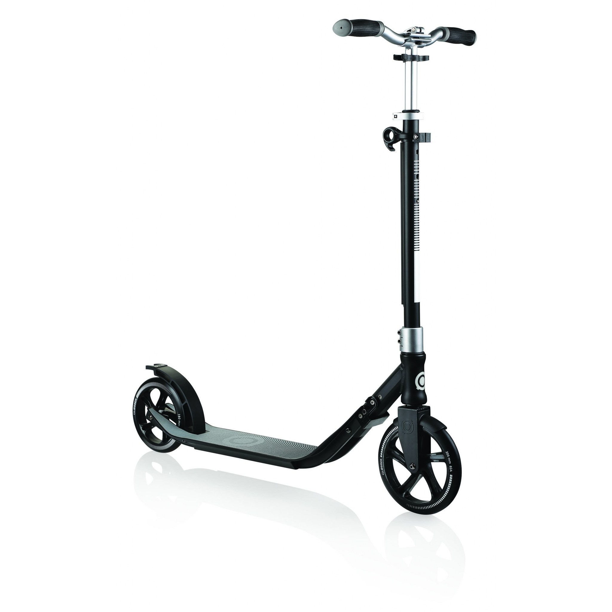 Globber-ONE-NL-205-180-DUO-2-wheel-adjustable-scooter-for-adults-lead-grey