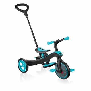 Globber-EXPLORER-TRIKE-3in1-all-in-one-baby-tricycle-and-kids-balance-bike-stage1-guided-trike_teal thumbnail 0
