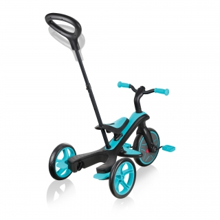 Globber-EXPLORER-TRIKE-3in1-all-in-one-baby-tricycle-and-kids-balance-bike-with-2-height-adjustable-parent-handle_teal thumbnail 4