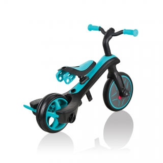 Globber-EXPLORER-TRIKE-3in1-all-in-one-baby-tricycle-and-kids-balance-bike-with-smart-pedal-storage_teal thumbnail 6
