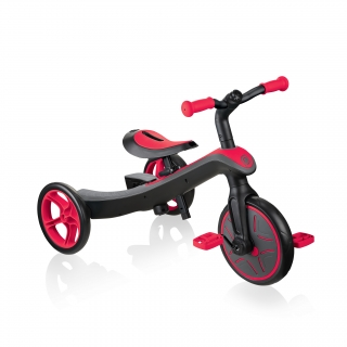 Globber-EXPLORER-TRIKE-2in1-all-in-one-training-tricycle-and-kids-balance-bike-stage1-training-trike_new-red thumbnail 0