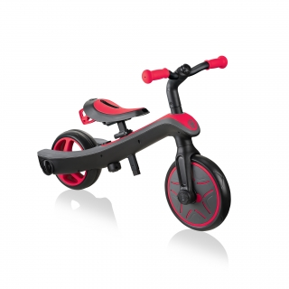 Globber-EXPLORER-TRIKE-2in1-all-in-one-training-tricycle-and-kids-balance-bike-stage2-balance-bike_new-red thumbnail 1