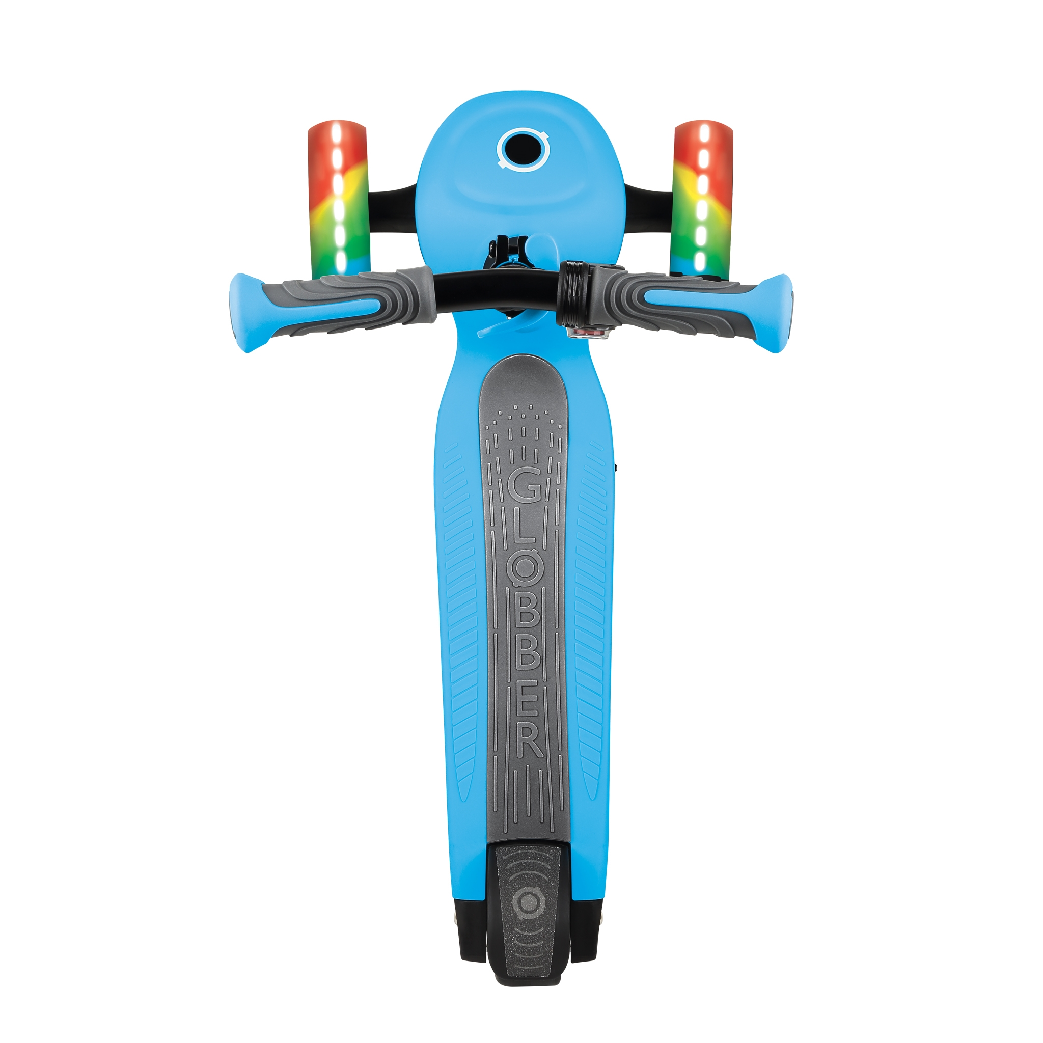 Globber-ONE-K-E-MOTION-4-award-winning-3-wheel-adjustable-electric-scooter-for-kids-with-wide-deck_sky-blue 2