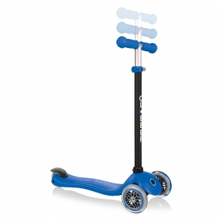 GO-UP-SPORTY-ride-on-walking-bike-scooter-with-3-height-adjustable-T-bar-navy-blue