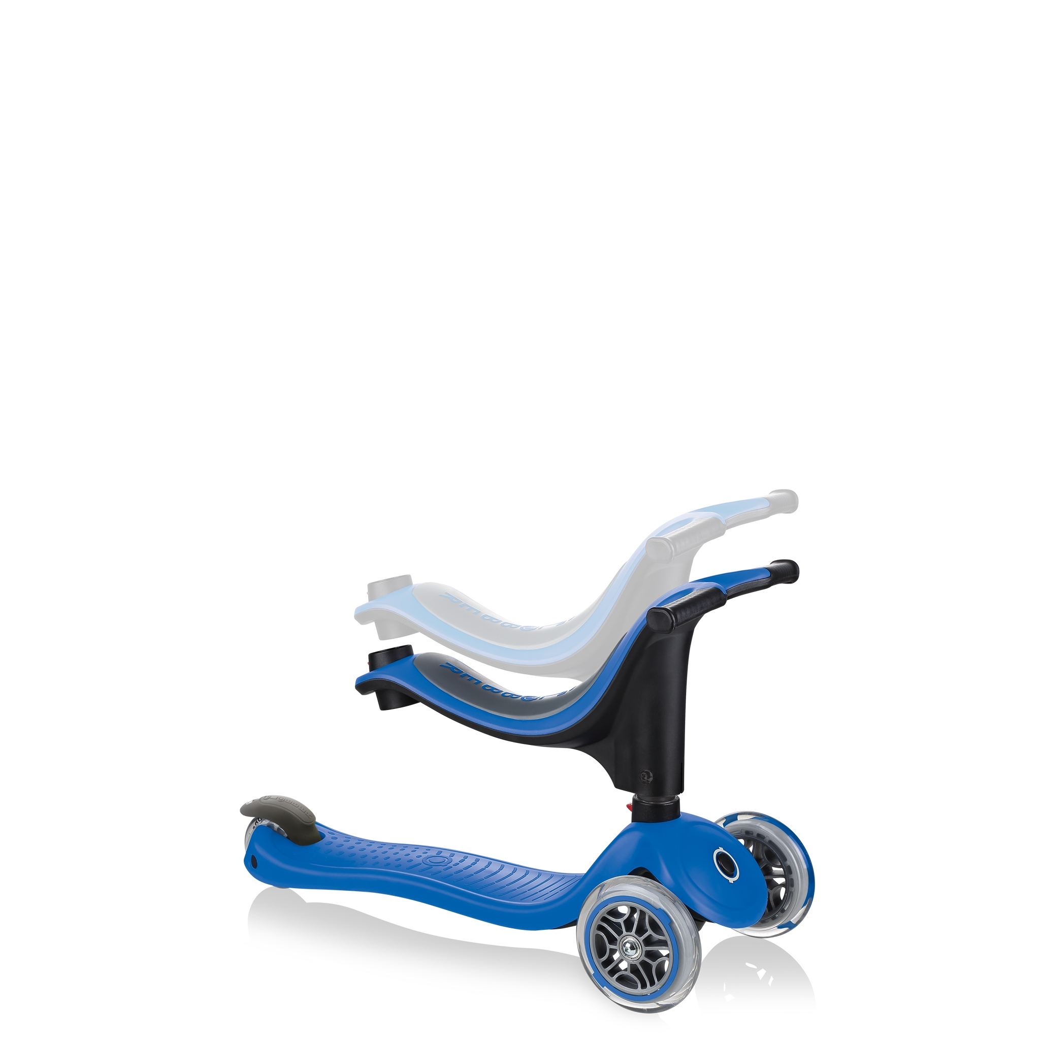 GO-UP-SPORTY-ride-on-walking-bike-scooter-with-adjustable-seat-navy-blue