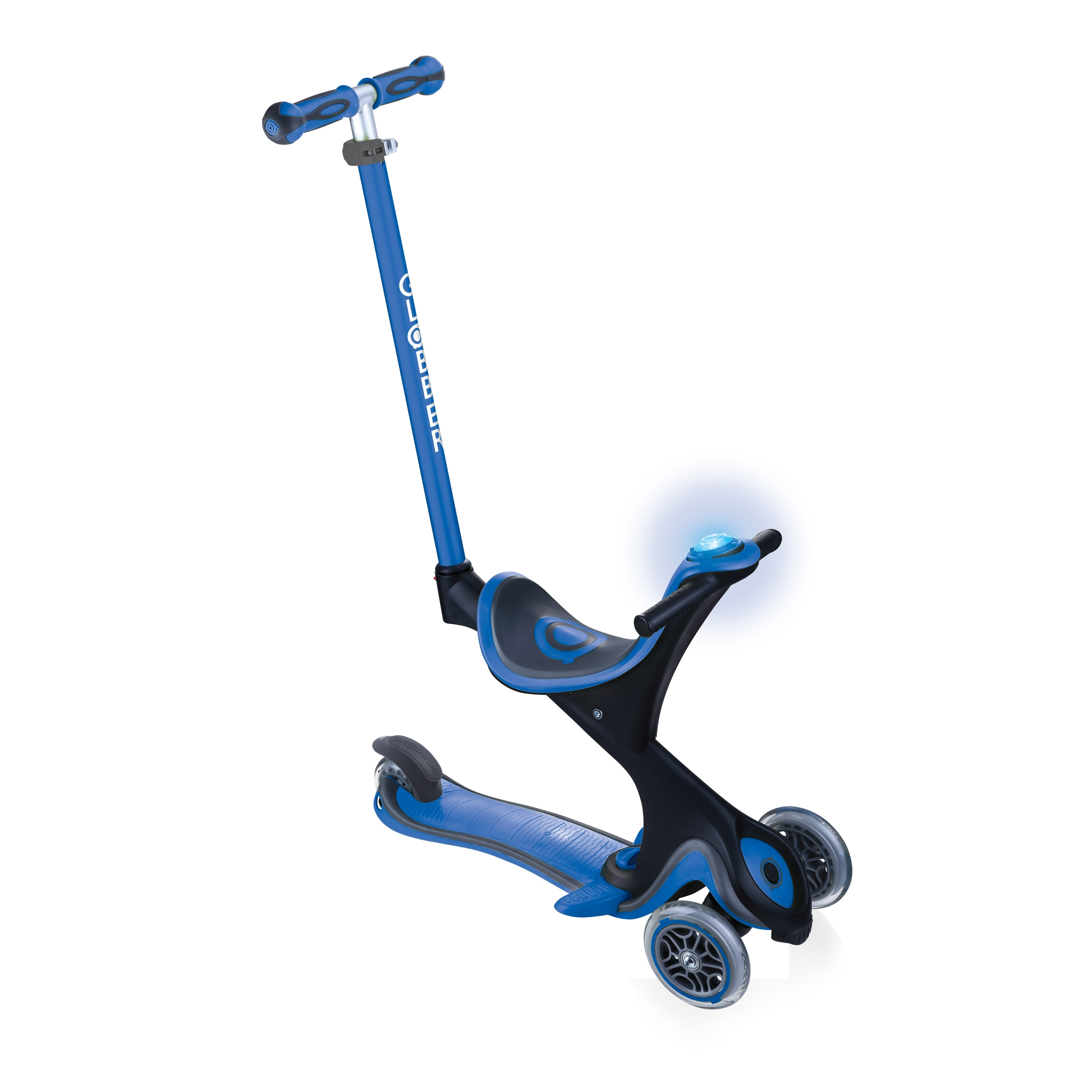 GO-UP-COMFORT-scooter-with-seat-and-LED-flash-and-sound-module_navy-blue 0
