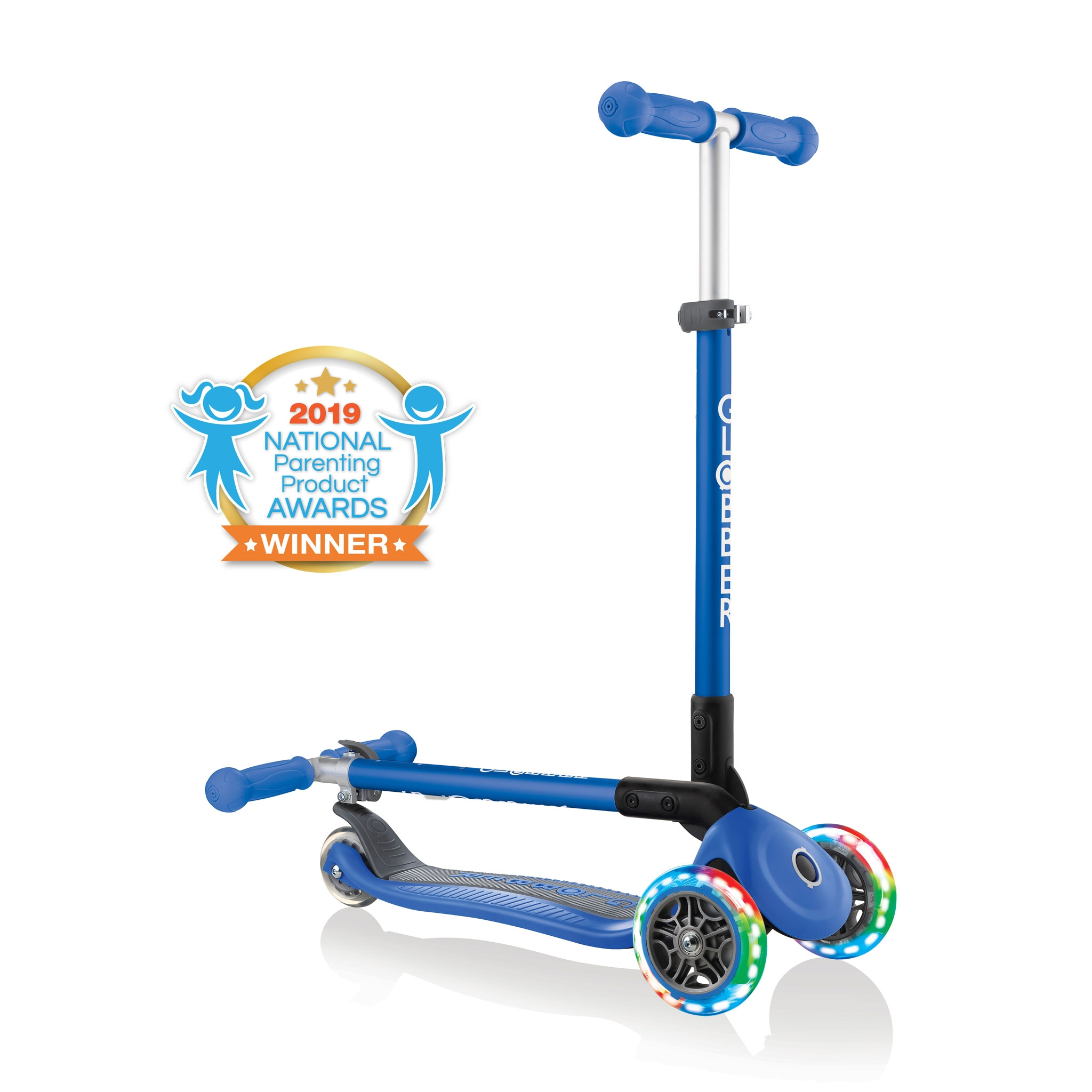 PRIMO-FOLDABLE-LIGHTS-3-wheel-fold-up-scooter-for-kids-navy-blue2 0