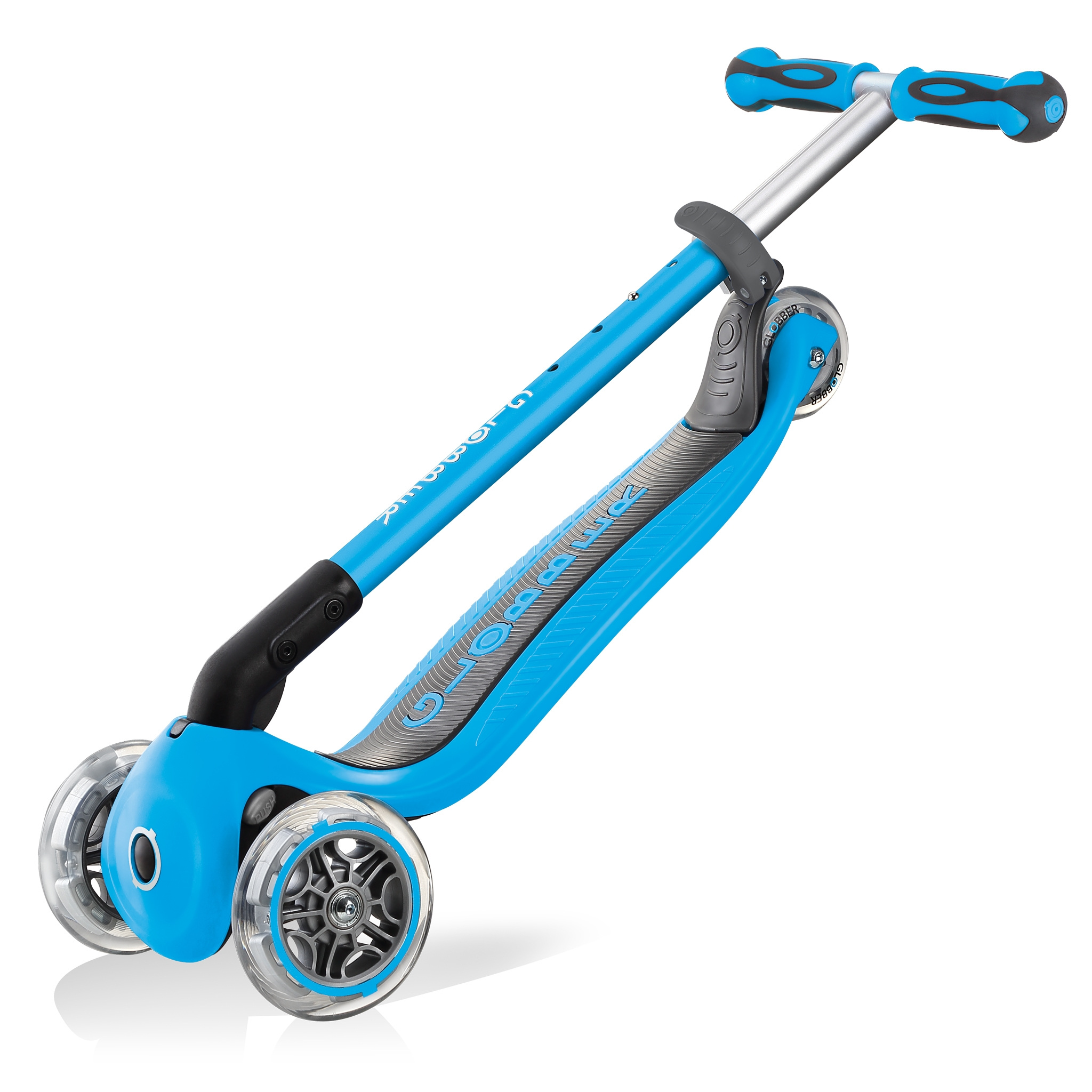 GO-UP-DELUXE-ride-on-walking-bike-scooter-trolley-mode-compatible-sky-blue 5
