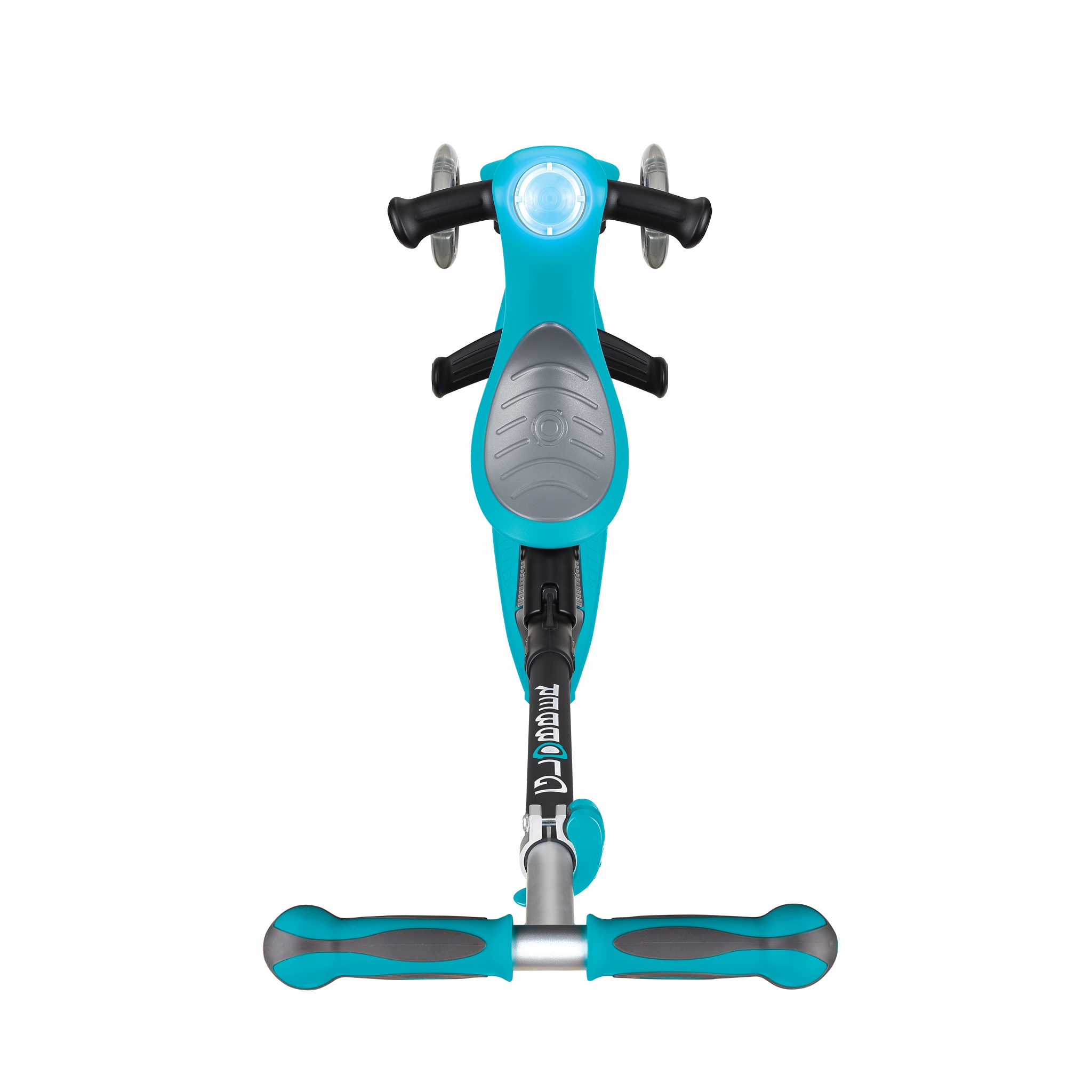GO-UP-DELUXE-PLAY-ride-on-walking-bike-scooter-with-light-and-sound-module-and-extra-wide-3-height-adjustable-seat-teal 2