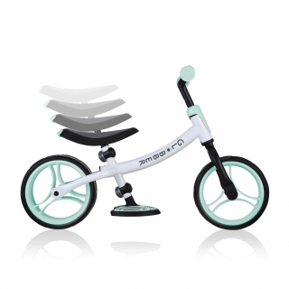 GO-BIKE-DUO-adjustable-balance-bike-for-toddlers-and-kids-with-8-height-adjustable-seat-and-2-height-adjustable-handlebars_mint thumbnail 2