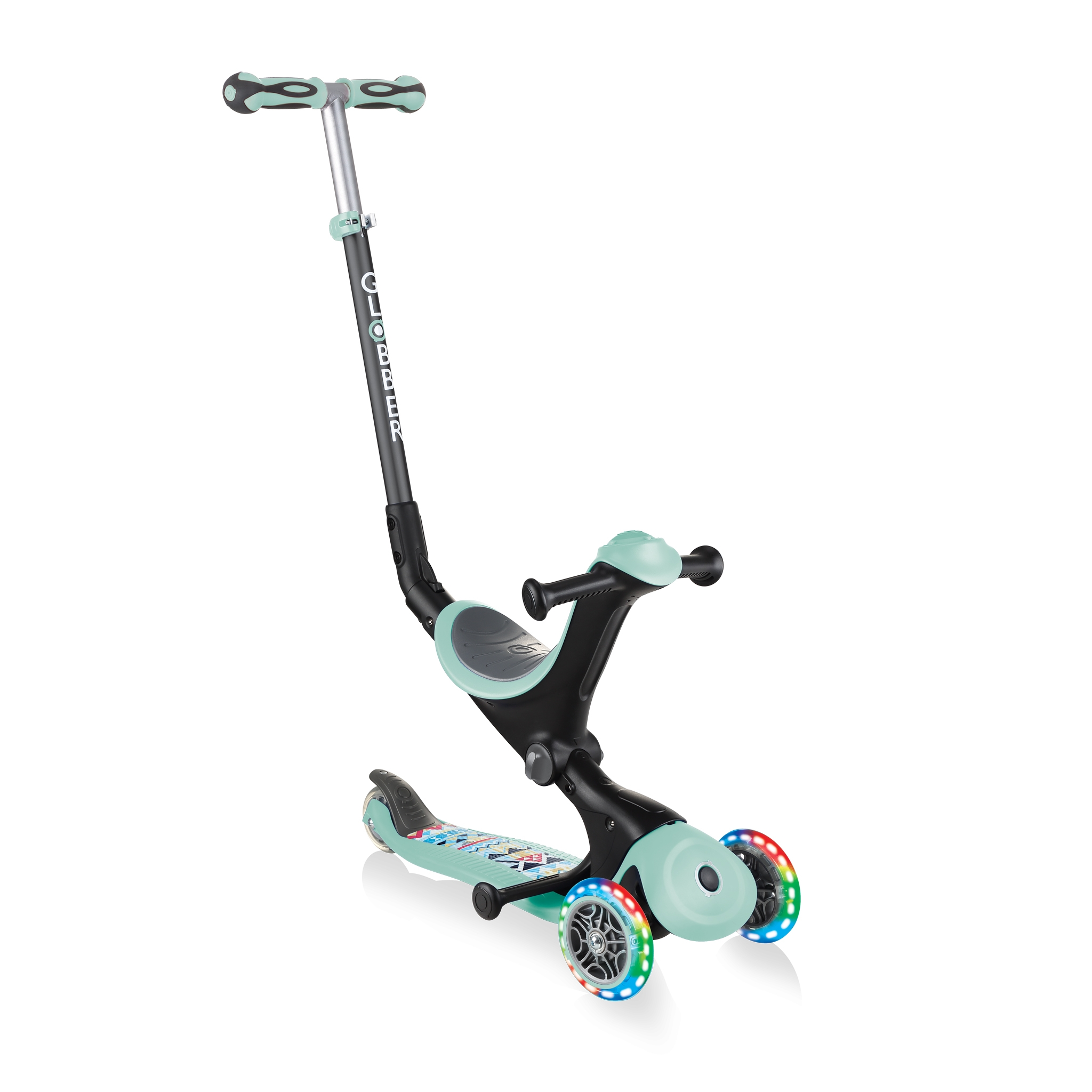 Scooter-with-seat-for-toddlers-Globber-GO-UP-DELUXE-FANTASY-LIGHTS 0
