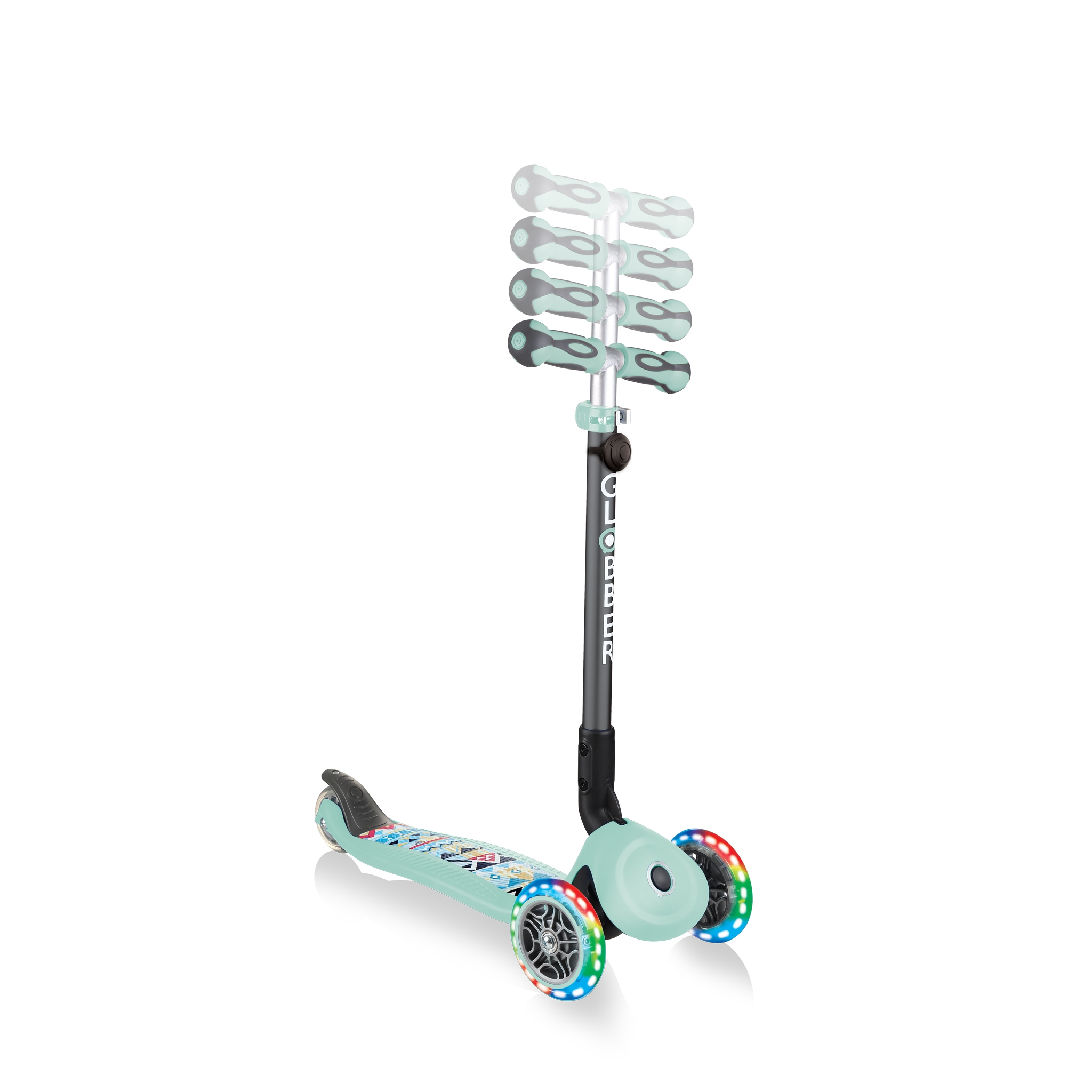 3-wheel-scooter-for-toddlers-with-adjustable-T-bar-Globber-GO-UP-DELUXE-FANTASY-LIGHTS 4