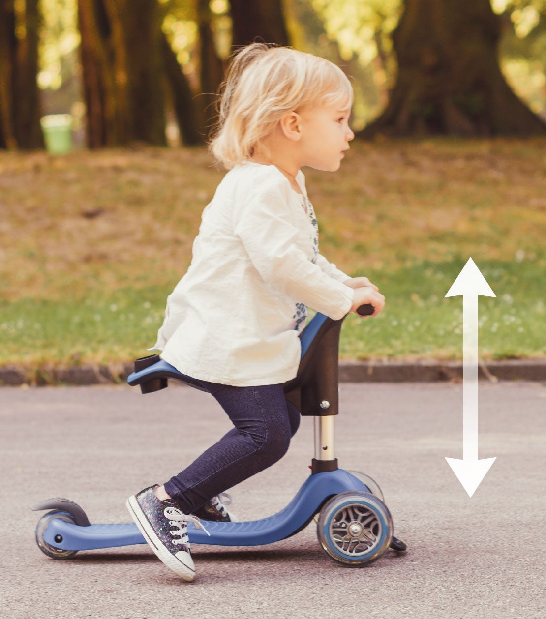 scooter with seat - adapts to your child